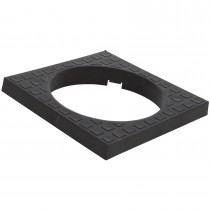 Polypipe 110mm Underground Square Top Surround For Bottle Gully - Black