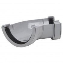 Polypipe 112mm Half Round Gutter 135 Degree Angle - Grey