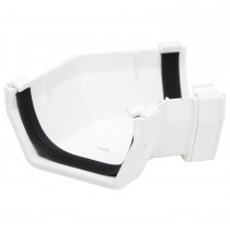 Polypipe 112mm Square Gutter 135 Degree Angle - White