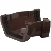 Polypipe 112mm Square Gutter 150 Degree Angle (Fabricated) - Brown