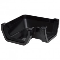 Polypipe 112mm Square Gutter 90 Degree Angle - Black