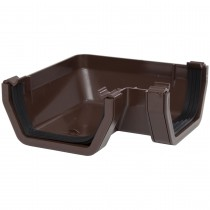 Polypipe 112mm Square Gutter 90 Degree Angle - Brown