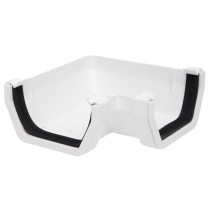Polypipe 112mm Square Gutter 90 Degree Angle - White