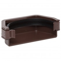 Polypipe 112mm Square Gutter Stop End (External) - Brown