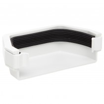 Polypipe 112mm Square Gutter Stop End (External) - White