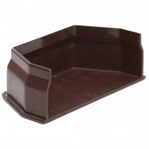 Polypipe 112mm Square Gutter Stop End (Internal) - Brown