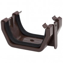 Polypipe 112mm Square Gutter Union Bracket - Brown