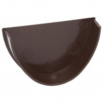 Polypipe 117mm Polyflow Deep Capacity Gutter Stop End (Internal) - Brown