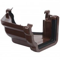 Polypipe 117mm Sovereign High Capacity Gutter 120 Degree Angle (External, Fabricated) - Brown