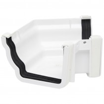 Polypipe 117mm Sovereign High Capacity Gutter 120 Degree Angle (External, Fabricated) - White