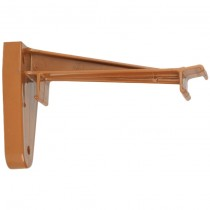 Polypipe 117mm Sovereign High Capacity Gutter Top Hanger Bracket - Oak Brown