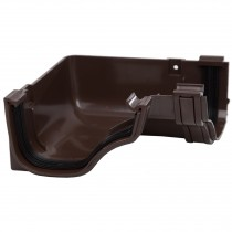 Polypipe 130mm Ogee Extra Capacity Gutter 90 Degree Angle (Internal) - Brown