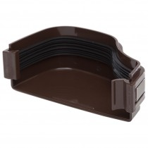 Polypipe 130mm Ogee Extra Capacity Gutter External Stop End (Left Hand) - Brown