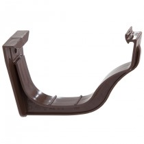 Polypipe 130mm Ogee Extra Capacity Gutter Fascia Bracket - Brown