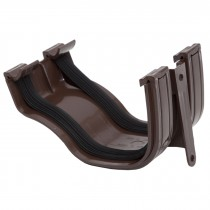 Polypipe 130mm Ogee Extra Capacity Gutter Union Bracket - Brown