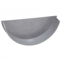 Polypipe 150mm Large Half Round Gutter Stop End (Internal) - Grey