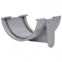 Polypipe 150mm Large Half Round Gutter Union Bracket - Grey