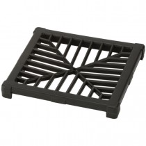Polypipe 150mm Square Plastic Grid for Gully - Black