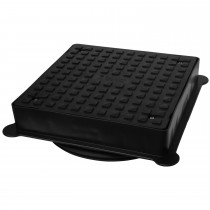 Polypipe 320mm Square PVC Chamber Cover and Frame - Black, 350mm x 350mm