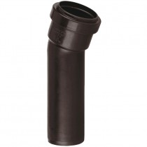Polypipe 32mm Push Fit Waste 157.5 Degree Soil Boss Bend - Brown