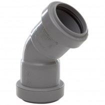 Polypipe 32mm Push Fit Waste 45 Degree Obtuse Bend - Grey