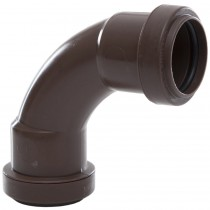 Polypipe 32mm Push Fit Waste 91.25 Degree Swept Bend - Brown
