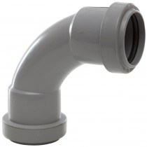 Polypipe 32mm Push Fit Waste 91.25 Degree Swept Bend - Grey
