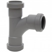 Polypipe 32mm Push Fit Waste 91.25 Degree Swept Tee - Grey