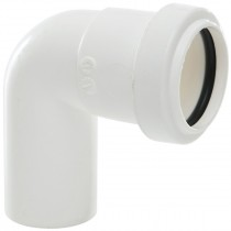 Polypipe 32mm Push Fit Waste 91.25 Degree Swivel Bend - White