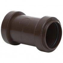 Polypipe 32mm Push Fit Waste Straight Coupler - Brown