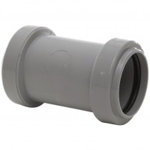 Polypipe 32mm Push Fit Waste Straight Coupler - Grey