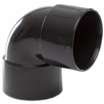 Polypipe 32mm Solvent Weld Waste 90 Degree Knuckle Bend - Black