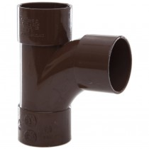 Polypipe 32mm Solvent Weld Waste 92.5 Degree Swept Tee - Brown