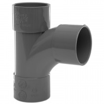 Polypipe 32mm Solvent Weld Waste 92.5 Degree Swept Tee - Grey