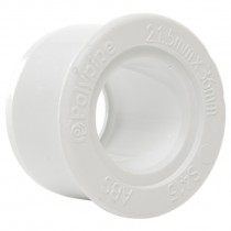 Polypipe 32mm Solvent Weld Waste to 21.5mm Solvent Weld Overflow Reducer - White