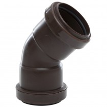 Polypipe 40mm Push Fit Waste 45 Degree Obtuse Bend - Brown