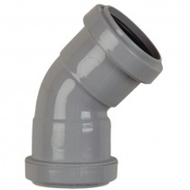 Polypipe 40mm Push Fit Waste 45 Degree Obtuse Bend - Grey
