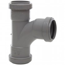 Polypipe 40mm Push Fit Waste 91.25 Degree Swept Tee - Grey