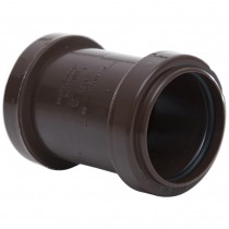 Polypipe 40mm Push Fit Waste Straight Coupler - Brown