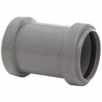 Polypipe 40mm Push Fit Waste Straight Coupler - Grey