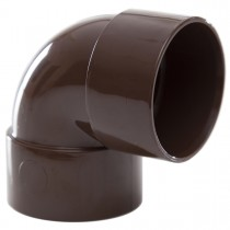 Polypipe 40mm Solvent Weld Waste 90 Degree Knuckle Bend - Brown