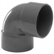 Polypipe 40mm Solvent Weld Waste 90 Degree Knuckle Bend - Grey