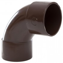 Polypipe 40mm Solvent Weld Waste 92.5 Degree Swept Bend - Brown
