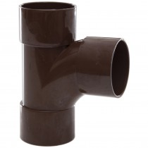 Polypipe 40mm Solvent Weld Waste 92.5 Degree Swept Tee - Brown