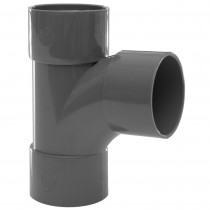Polypipe 40mm Solvent Weld Waste 92.5 Degree Swept Tee - Grey