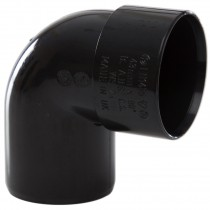 Polypipe 40mm Solvent Weld Waste 92.5 Degree Swivel Bend - Black
