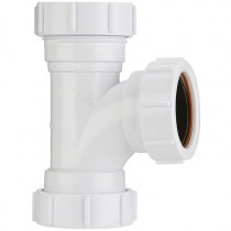 Polypipe 40mm Universal Compression Waste 91.25 Degree Equal Tee - White