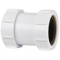 Polypipe 40mm Universal Compression Waste Straight Connector - White