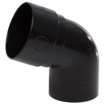 Polypipe 50mm Mini Round Down Pipe 112.5 Degree Offset Bend - Black