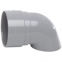 Polypipe 50mm Mini Round Down Pipe Shoe - Grey
